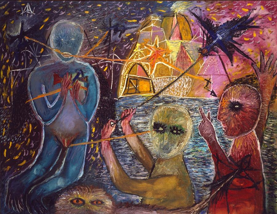 Tapies,Composició amb figures-1947