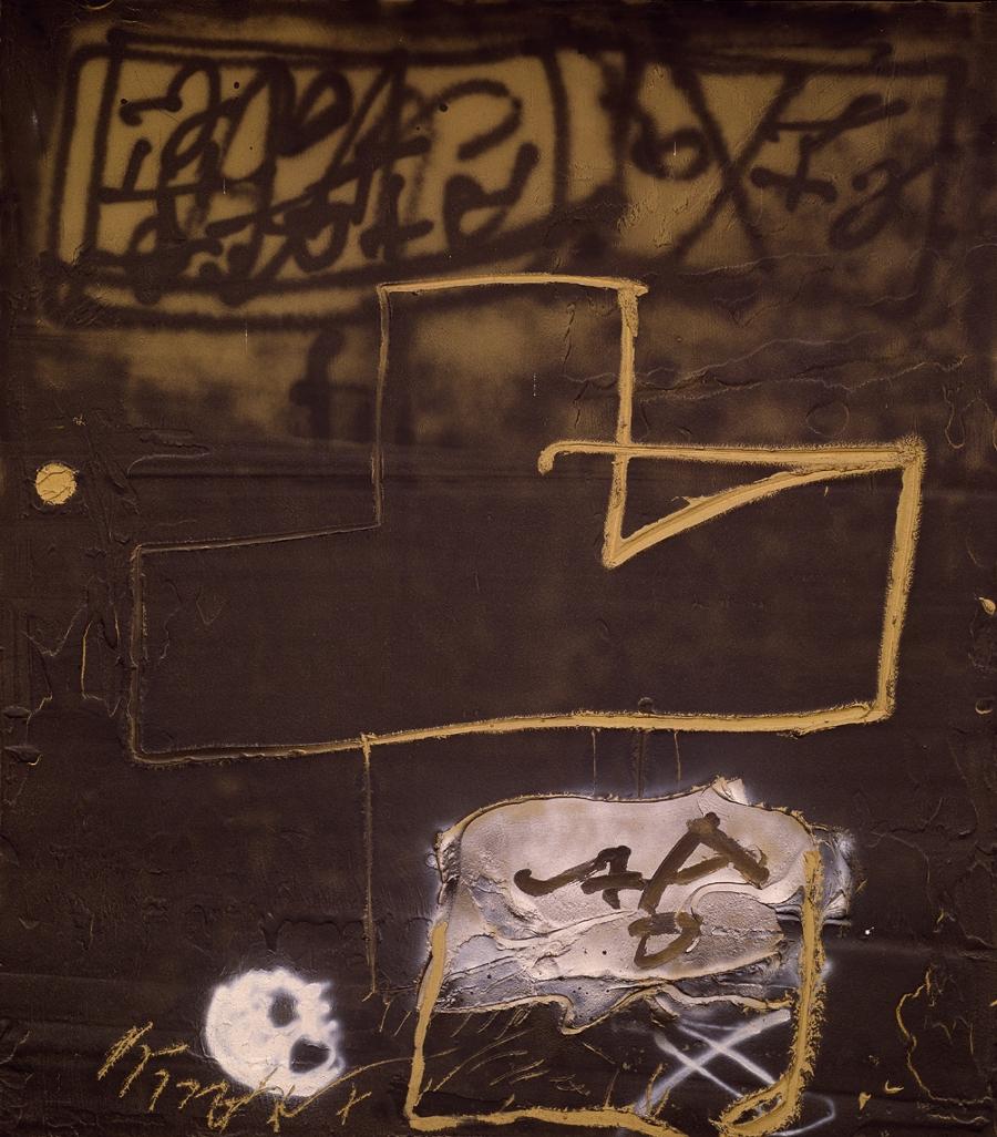 Tapies,Graffit,1985