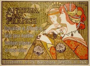 Alexandre de Riquer. Cartell Antigua Casa Franch, 1899