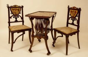 Joan Busquets Cadires i tauleta,1899