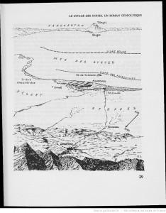 Mapa de Le Rivage des Syrtes, de Julien Gracq