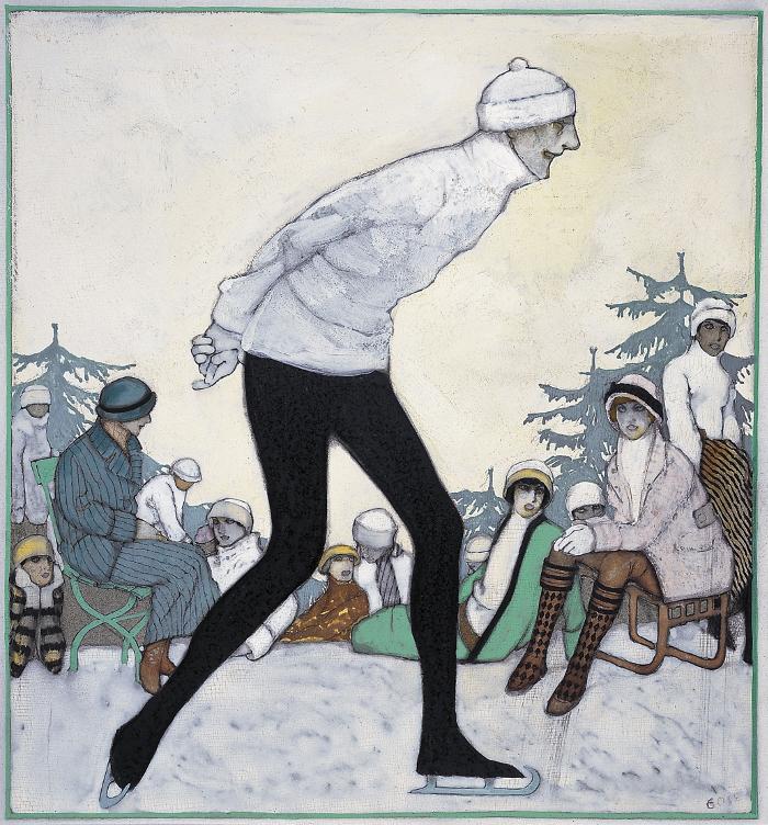 Gosé. Sobre la neu.1913. Museu Jaume Morera