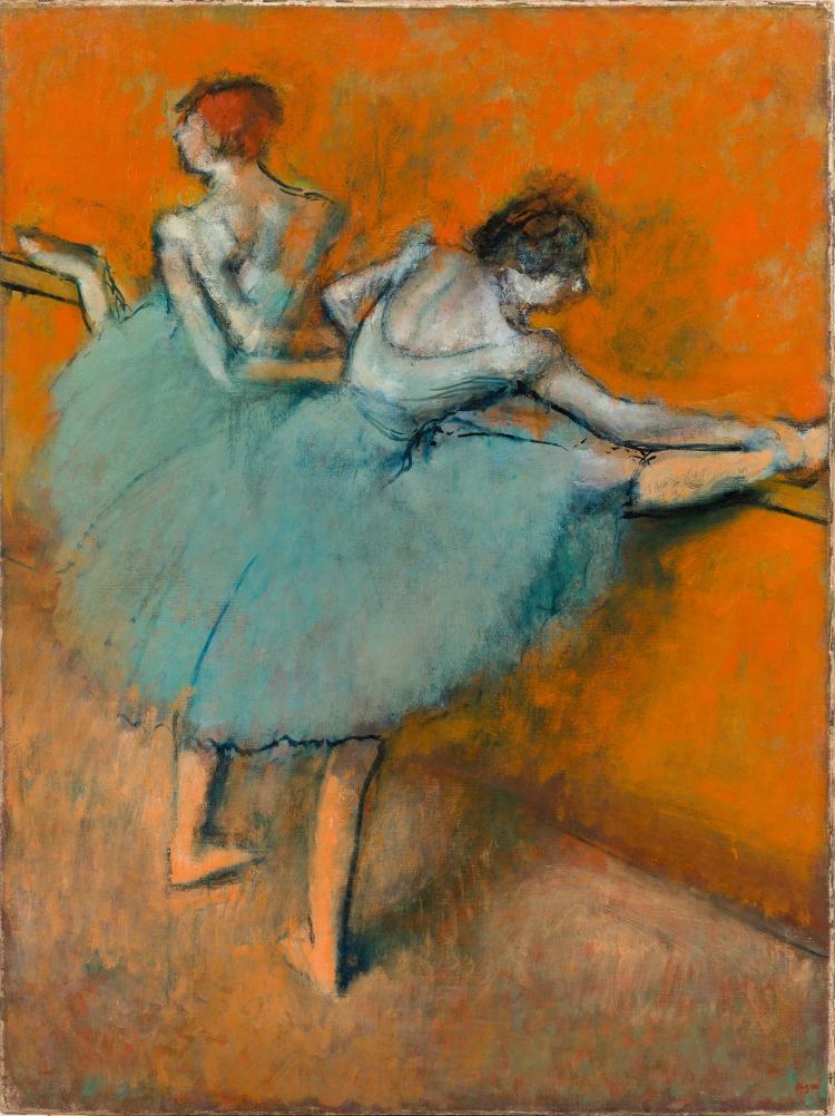 Degas, Bailarinas na barra,1900
