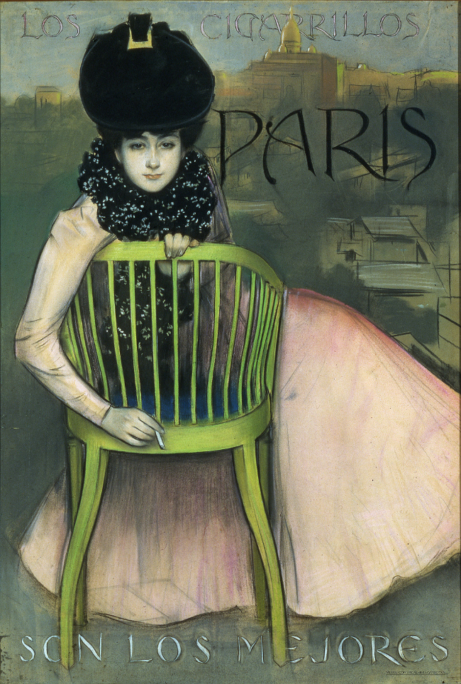 R. Casas. Montmartre (Cigarrillos París), 1901