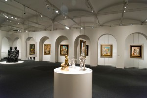 Salas, con esculturas